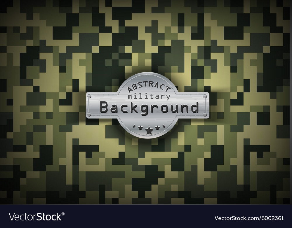 Camouflage military pixel art pattern background