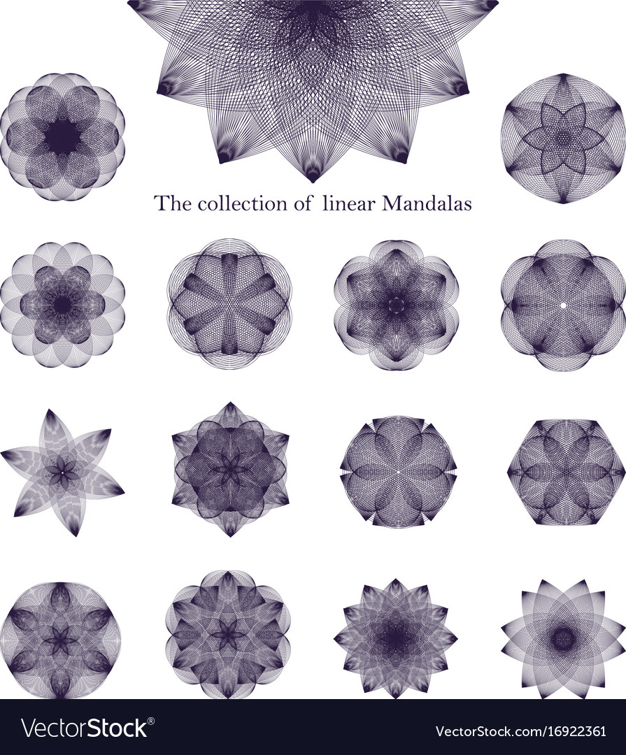 Collection badging logos in the form of mandalas