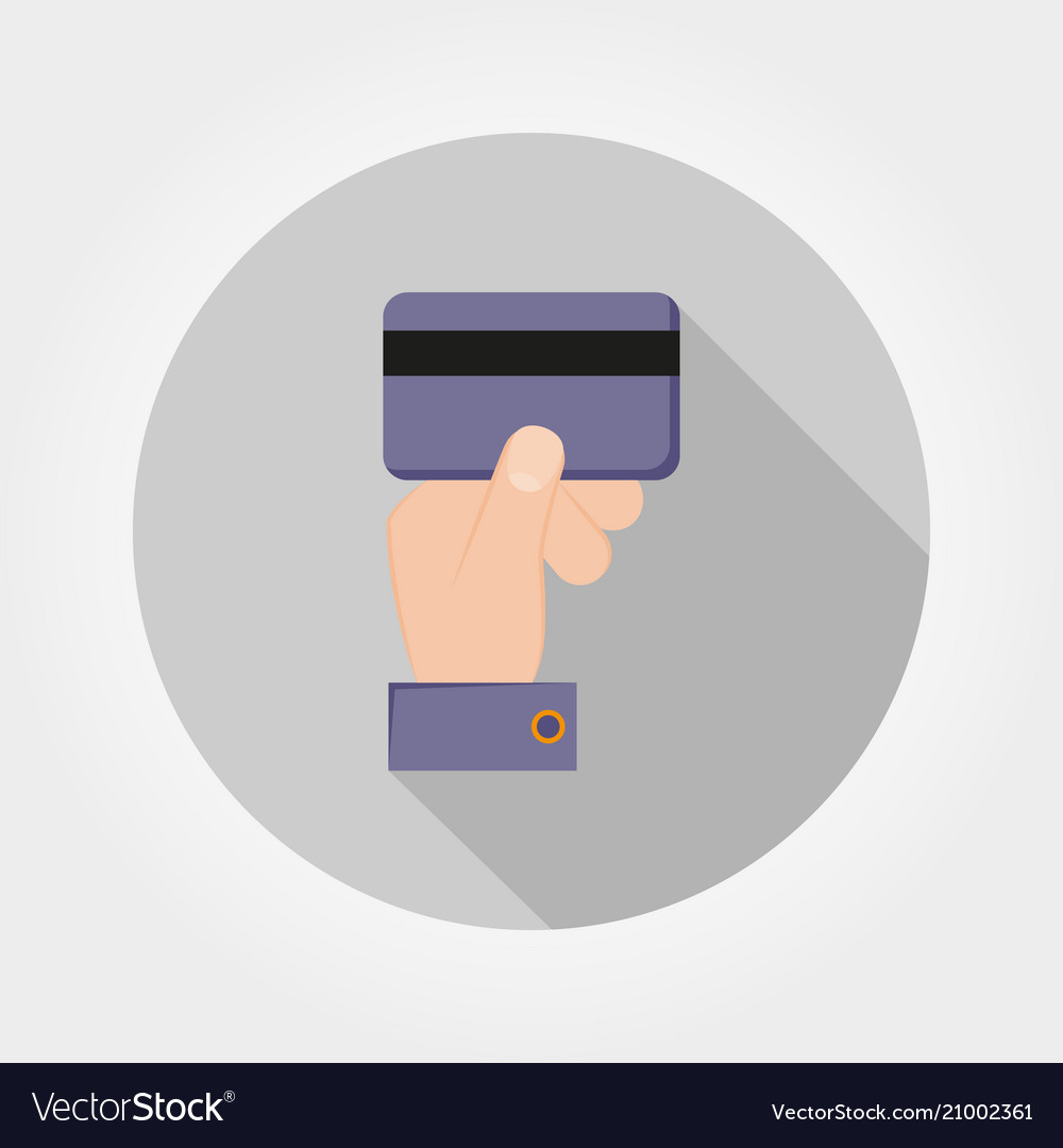 Credit card payment icon flat