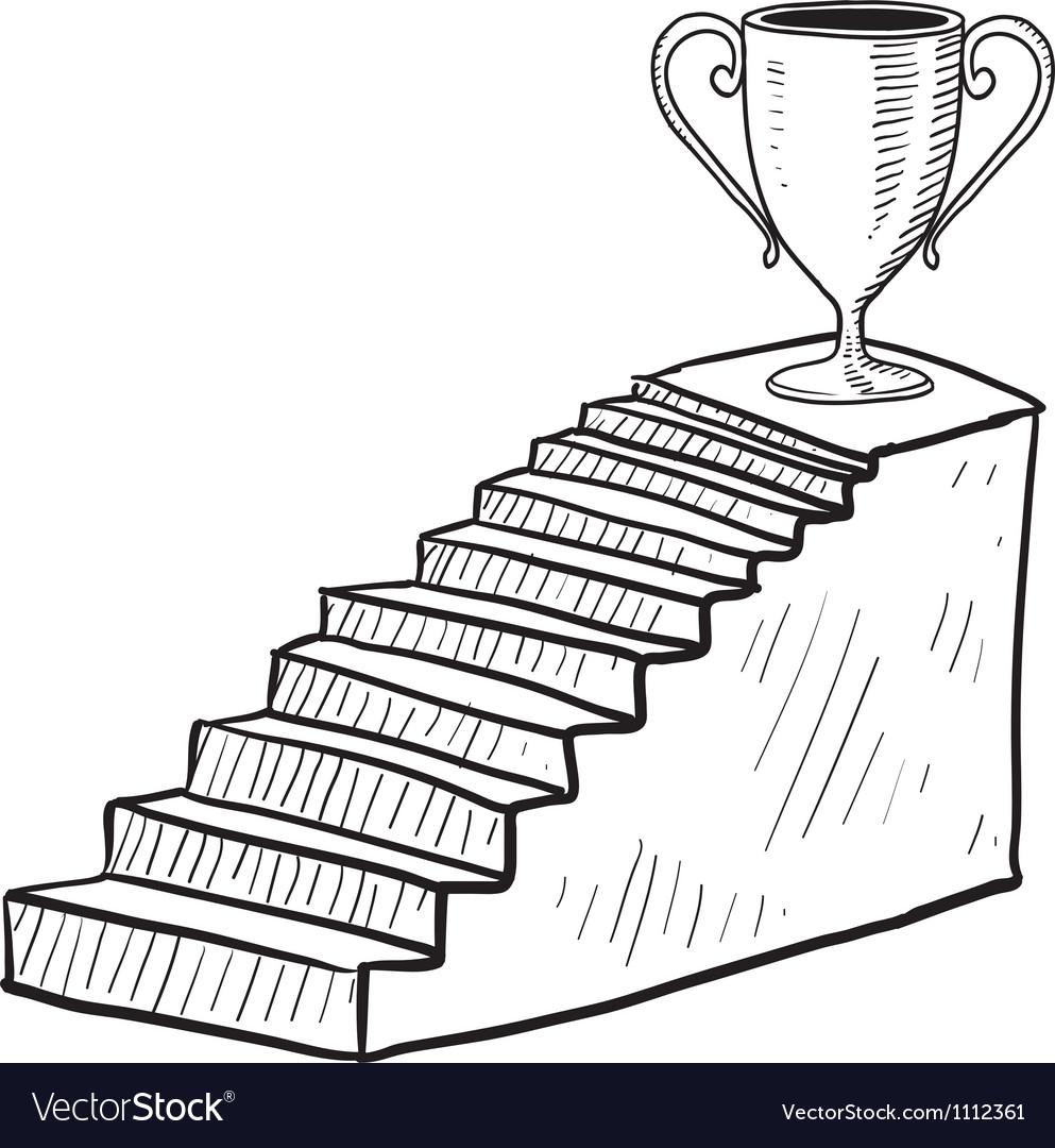 Doodle stairway reward trophy