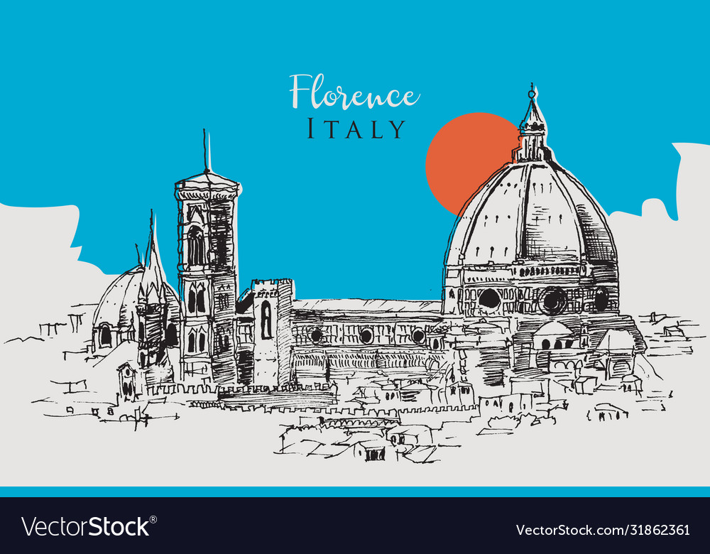 Drawing sketch florence italy