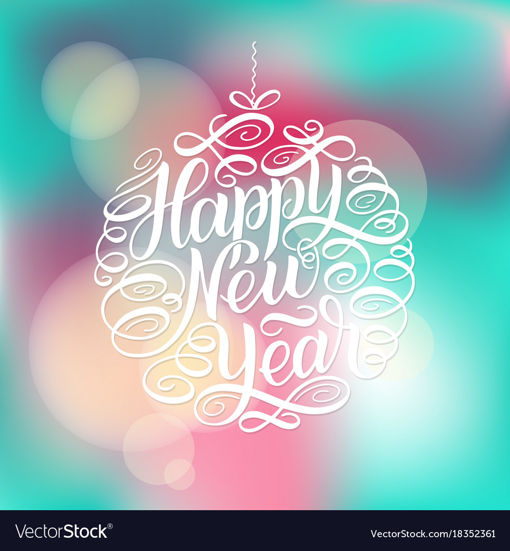 Happy New Year Lettering Design 61