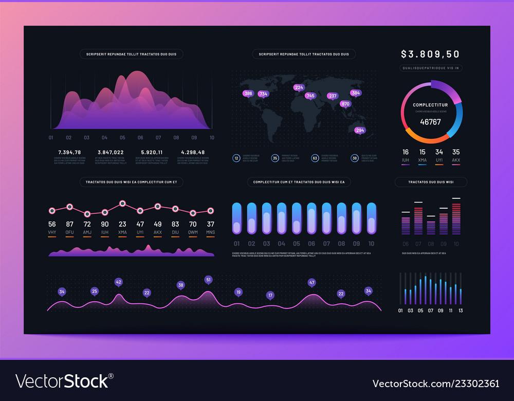 Interface dashboard ux ui analytics information
