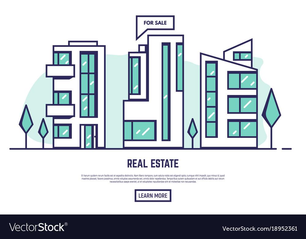 Modern city real estate