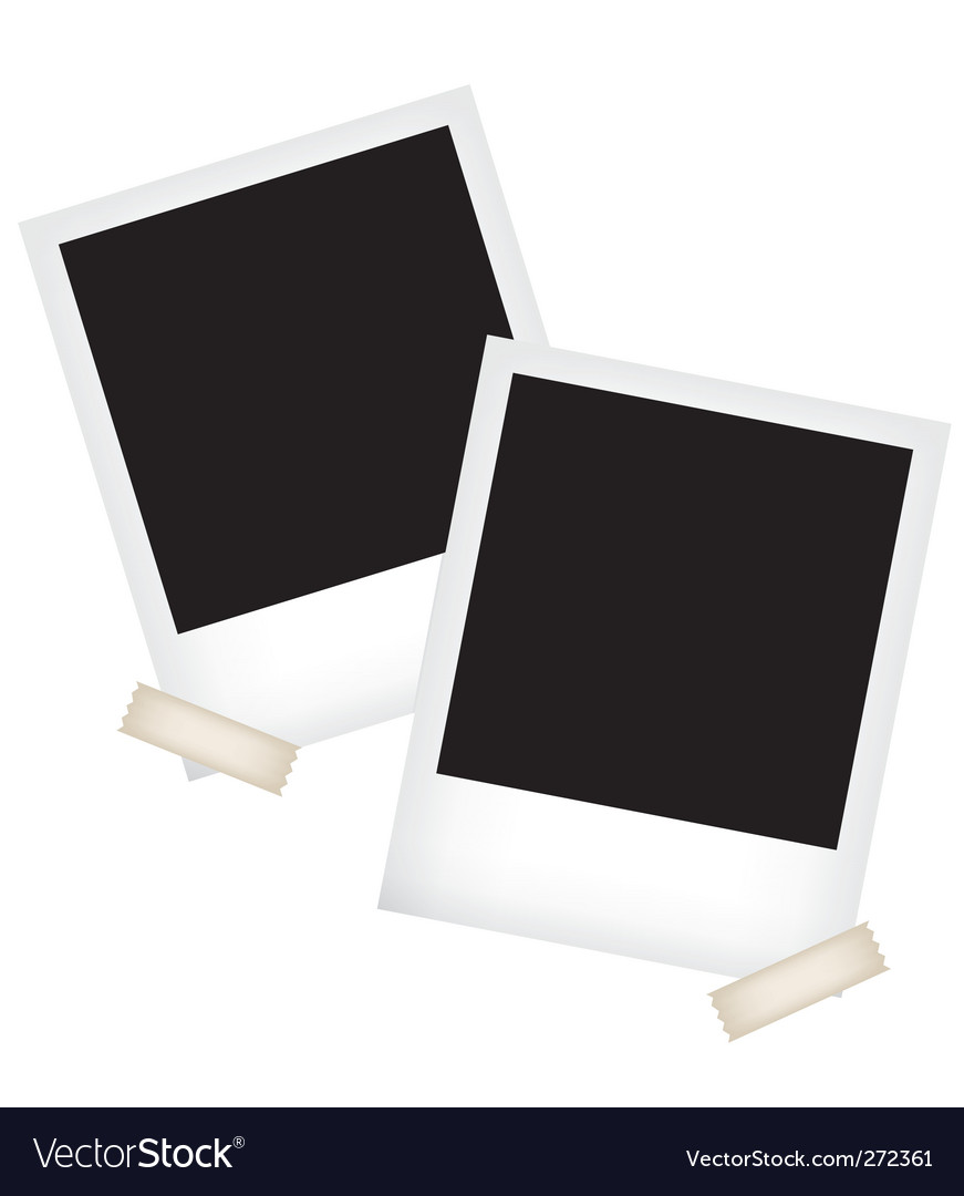 Photo frame templates vector