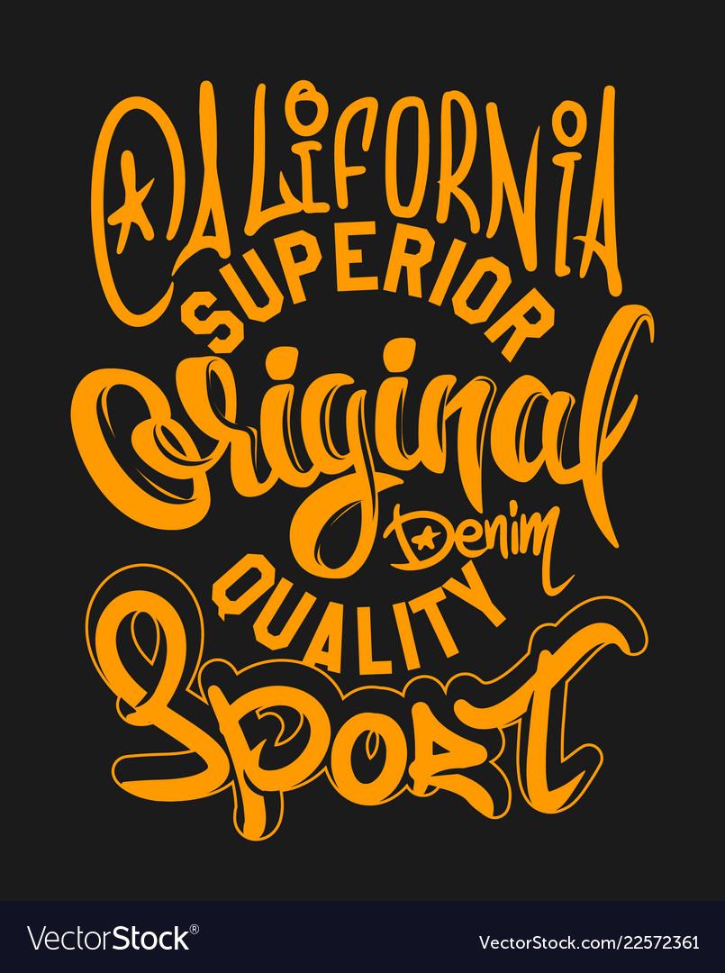 Superior quality denim print and varsity t shirt