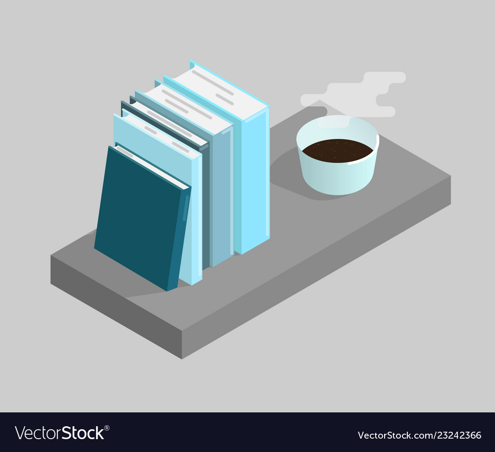 Books and a cup of coffee