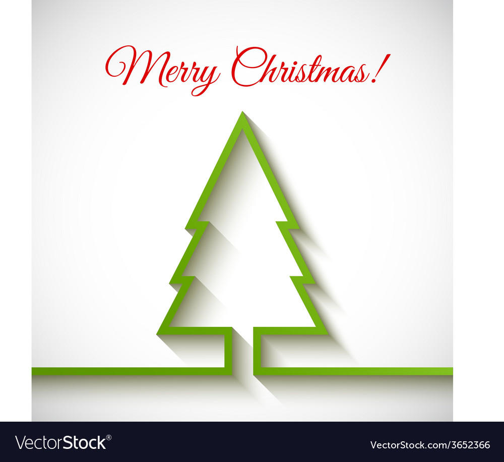 Christmas tree in flat style on white background