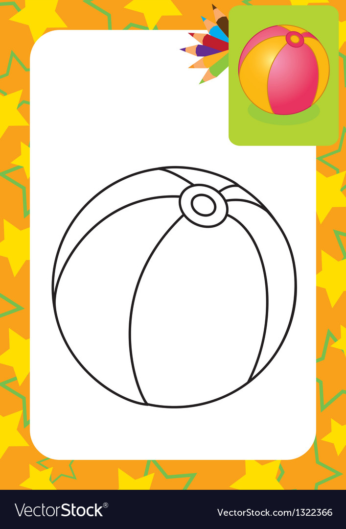 Coloring page Toy ball