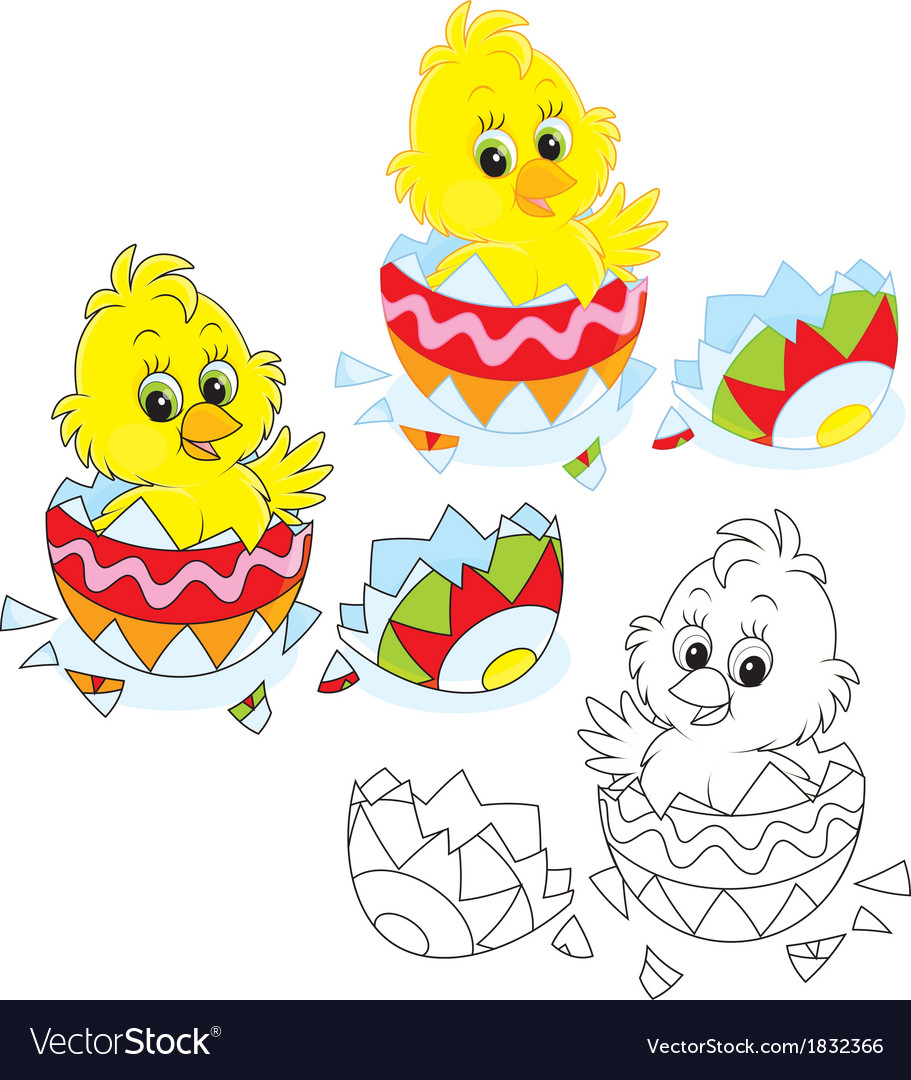 easter chick vector image - Easter Chick