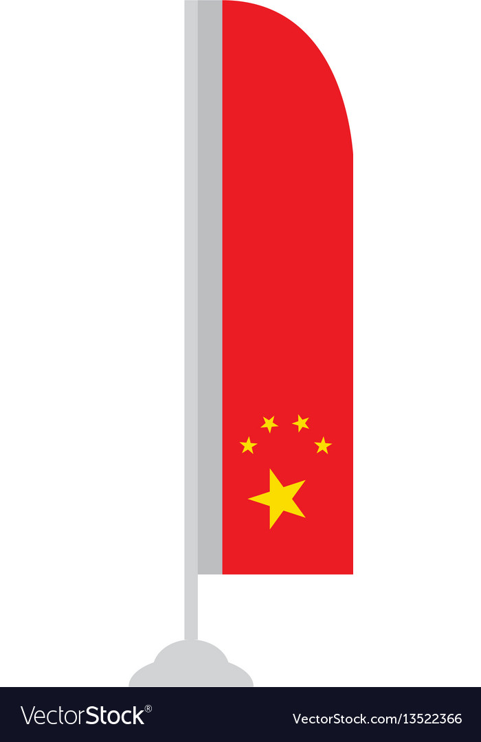 Isolated chinese flag