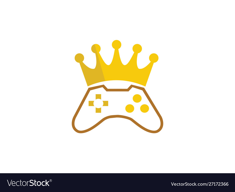 King gamer crown console symbol gaming play