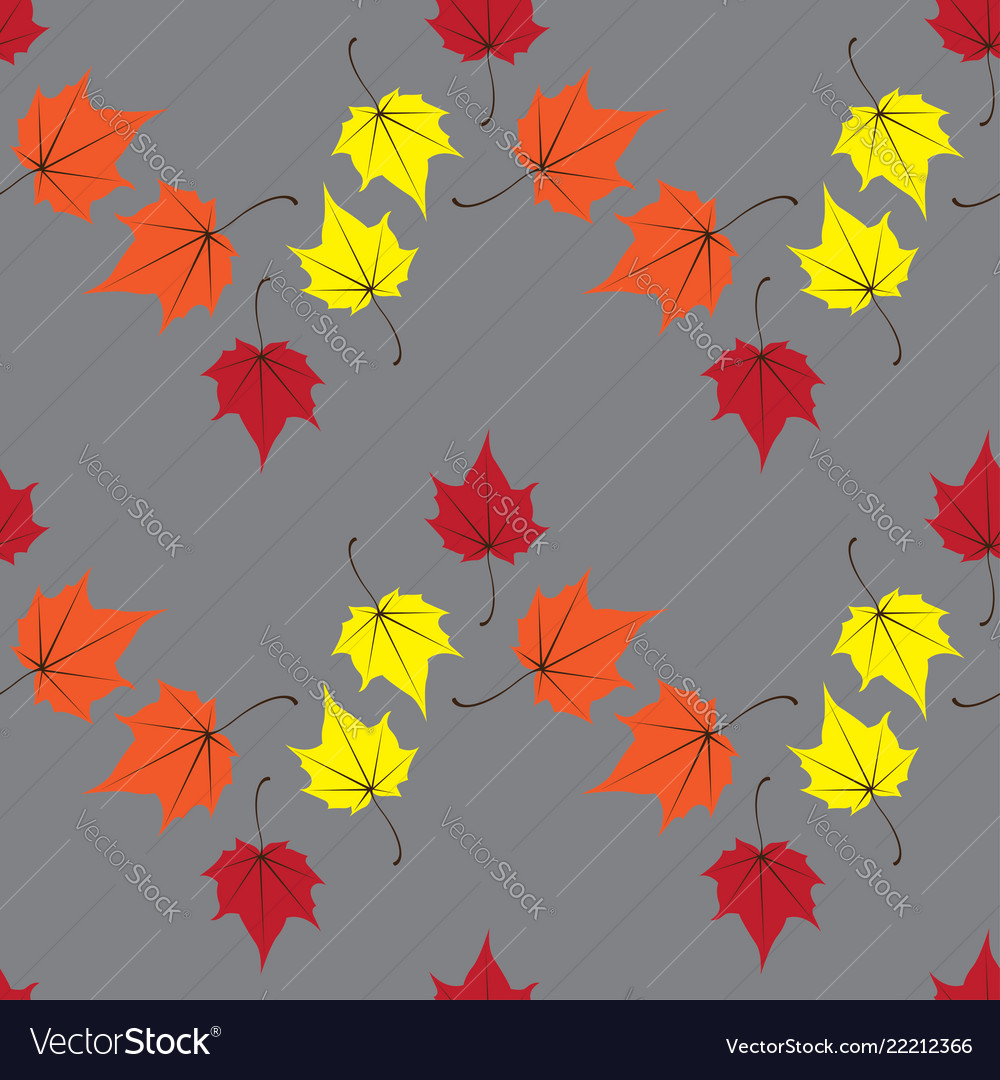 Maple leaves seamless orange art background