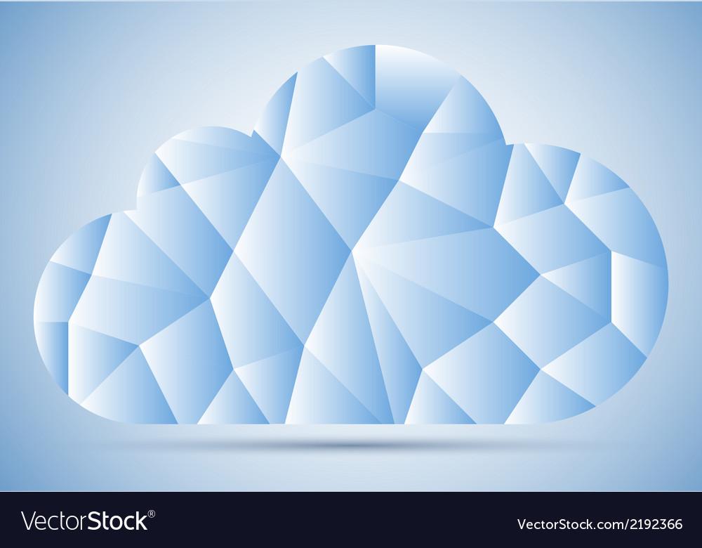 Mosaic cloud vector image