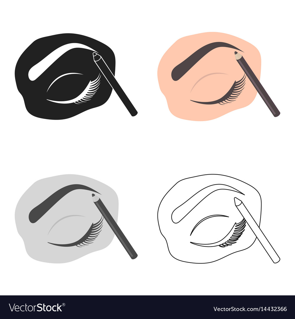 Painted Eyebrows Icon In Cartoon Style Isolated On