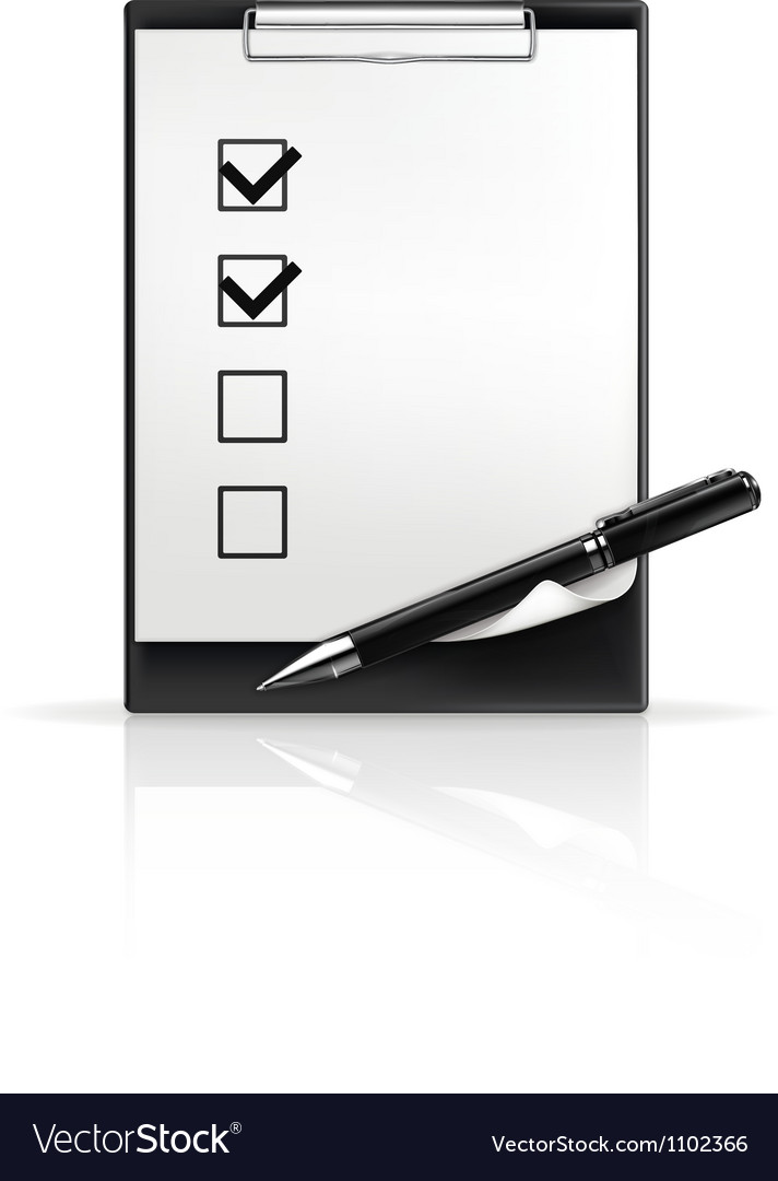 Pen and check boxes vector image