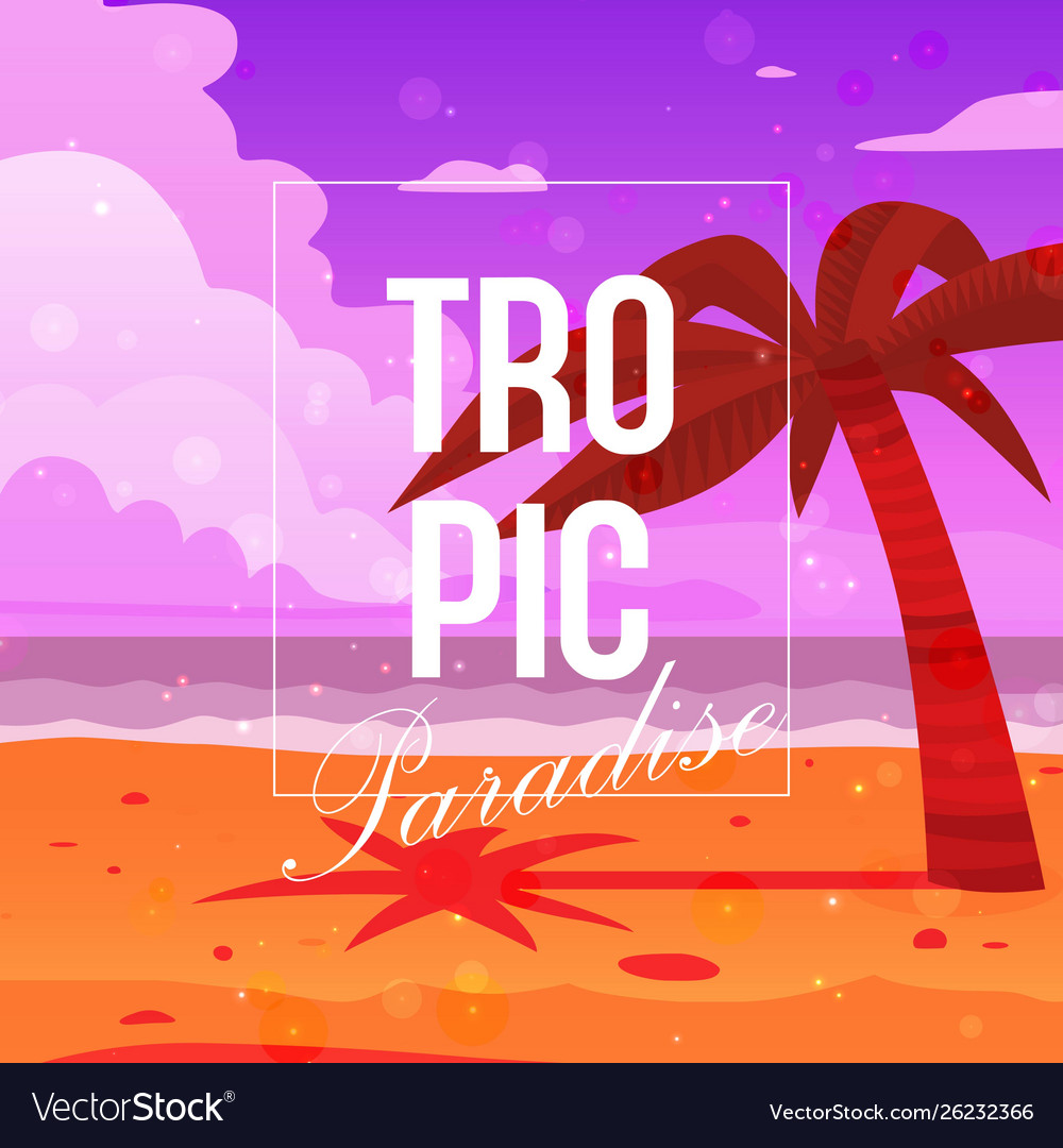 Tropical paradise background banner