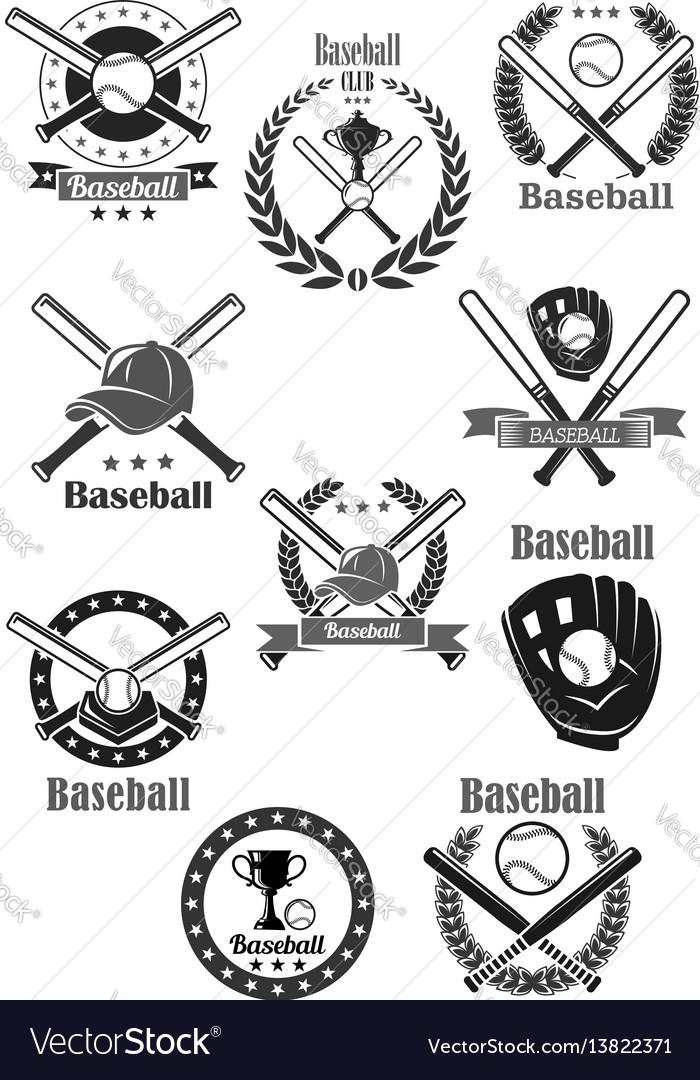Baseball club awards template icons set royalty free vector baseball club awards template icons set vector image maxwellsz