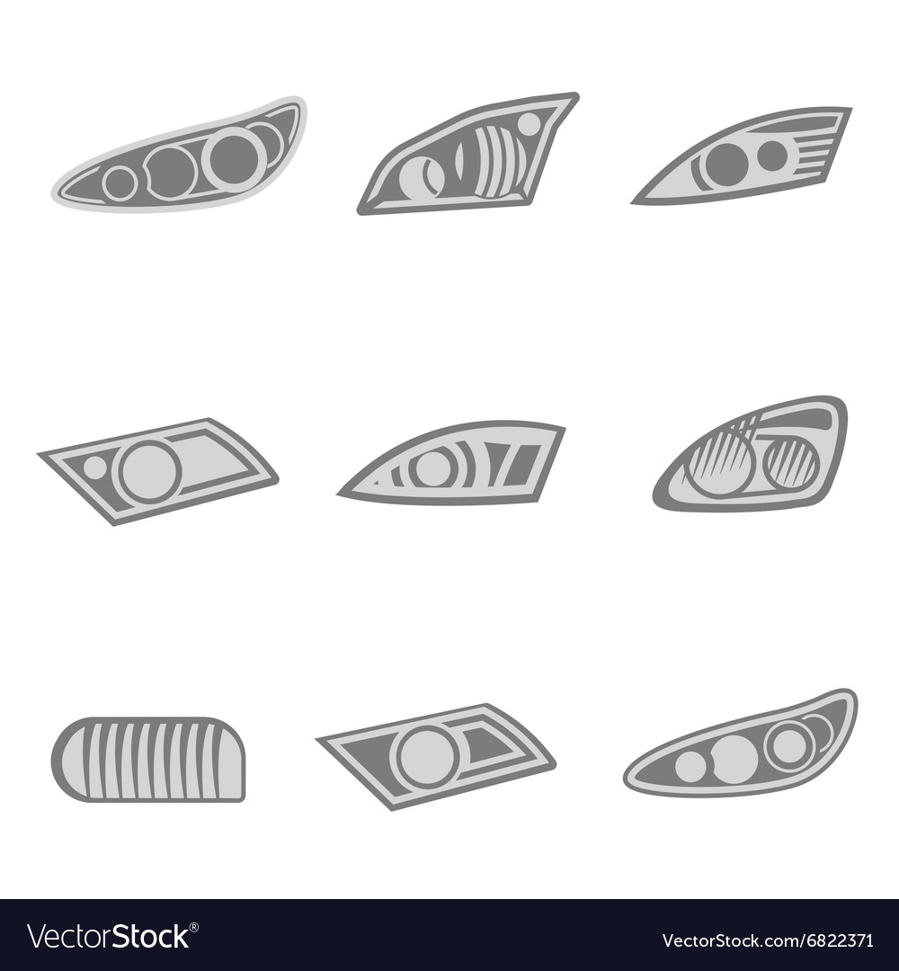 Car Headlights Royalty Free Vector Image - VectorStock for Car Lamp Vector  150ifm