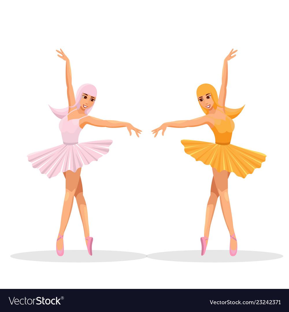 Cute women dance ballet