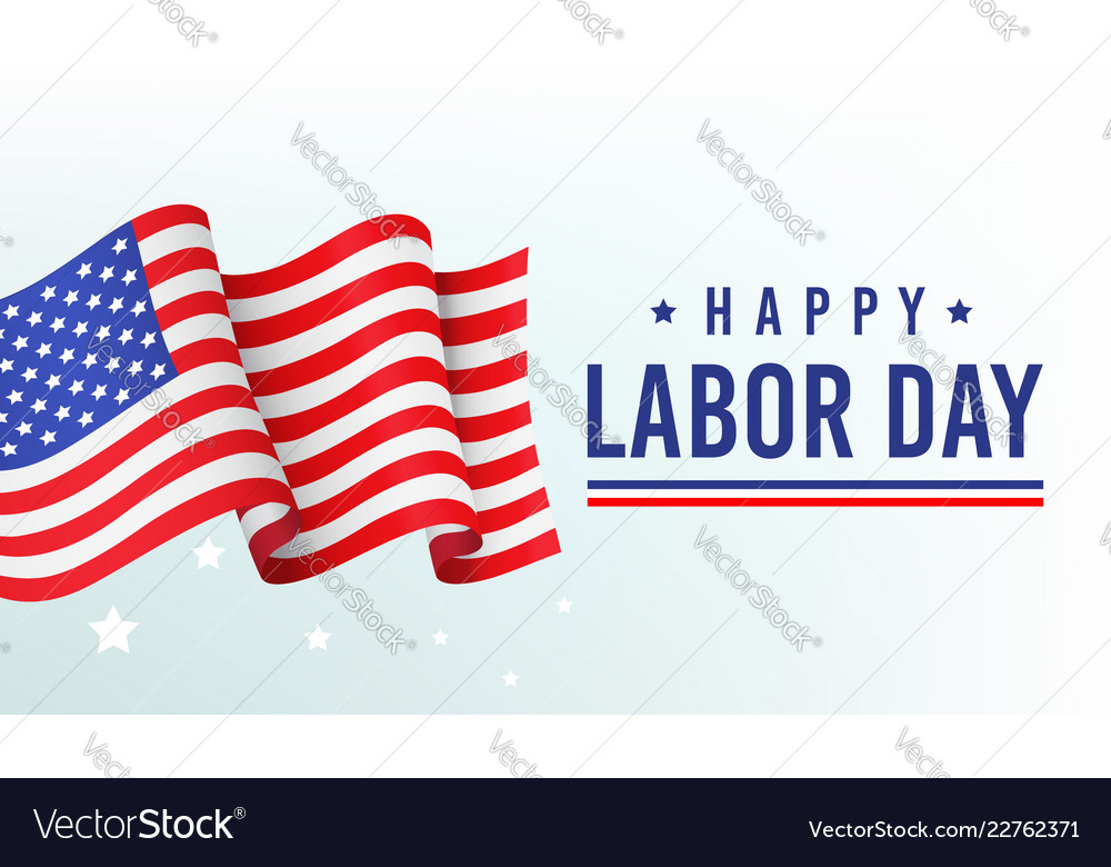 Happy labor day banner poster