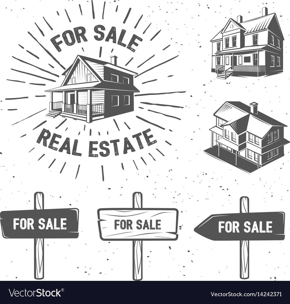 Real estate silhouette logotypes