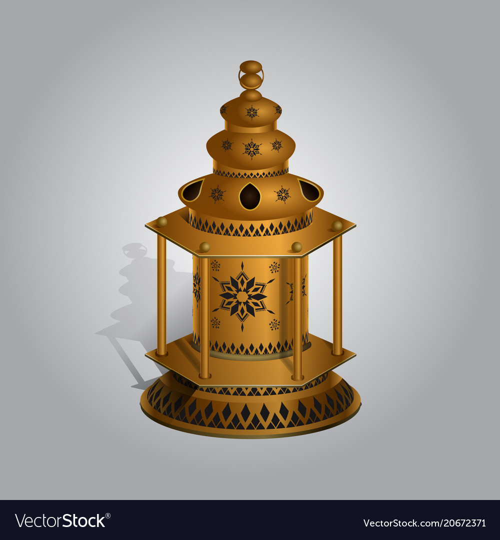 realistic ramadan lamp or lantern mock up vector image vectorstock