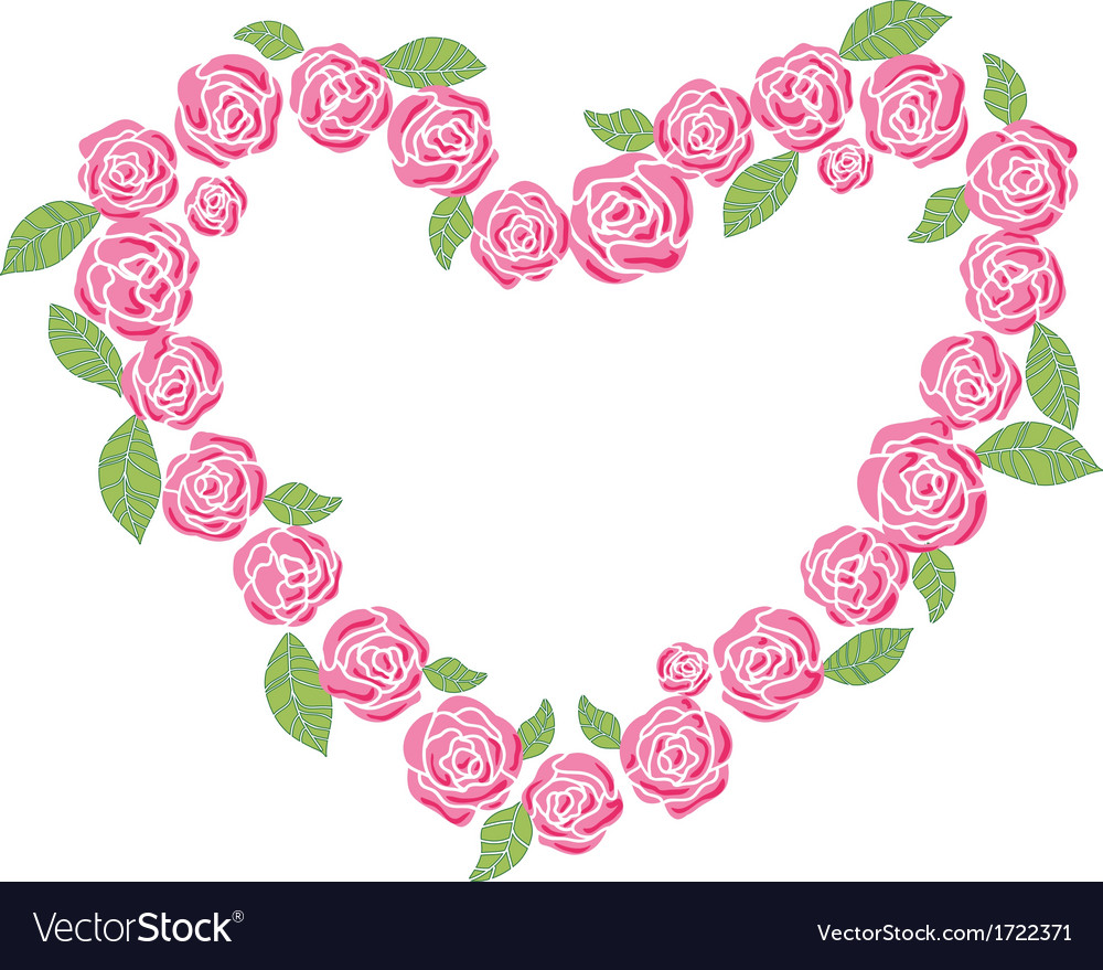 Roses love frame Royalty Free Vector Image - VectorStock