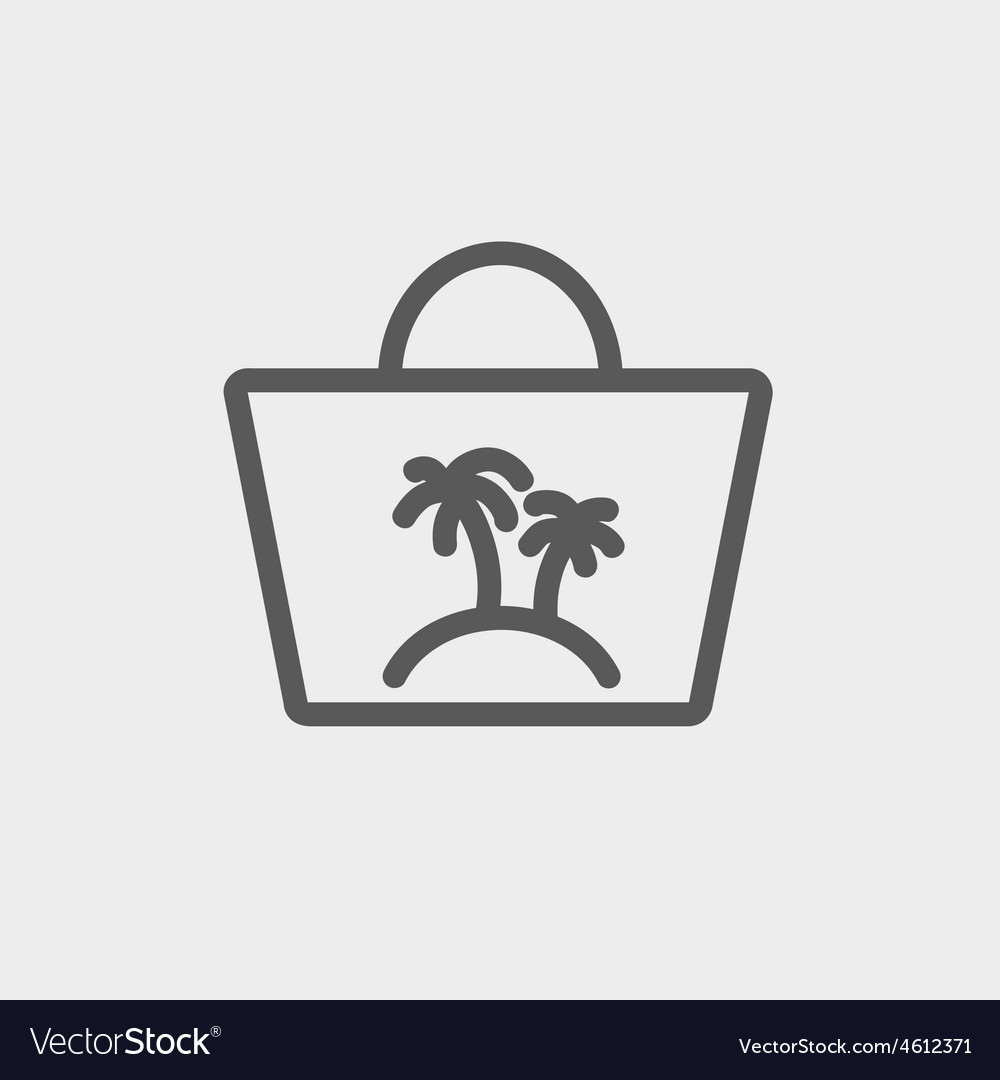 Summer bag thin line icon