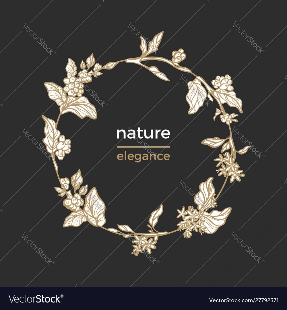 Template nature circle