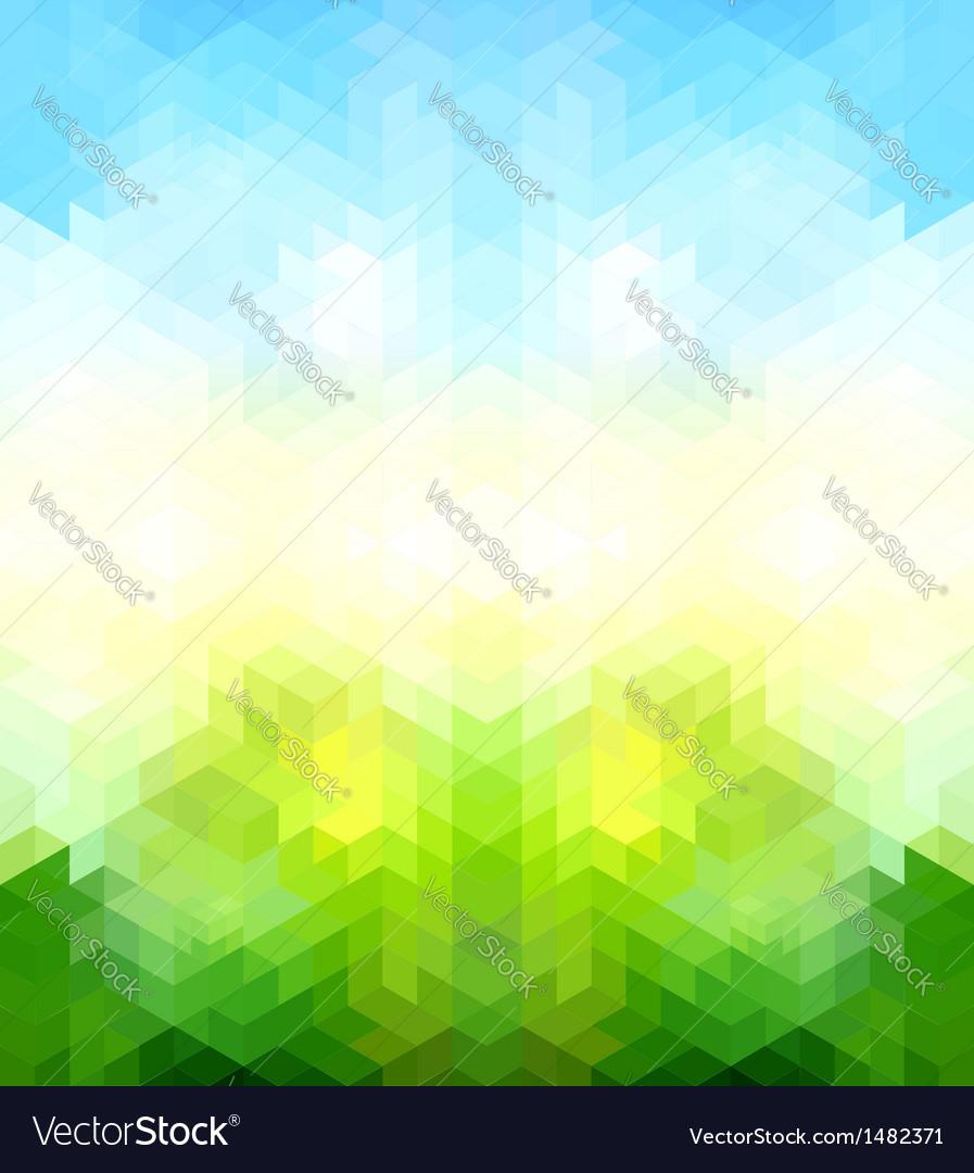 Triangle retro background
