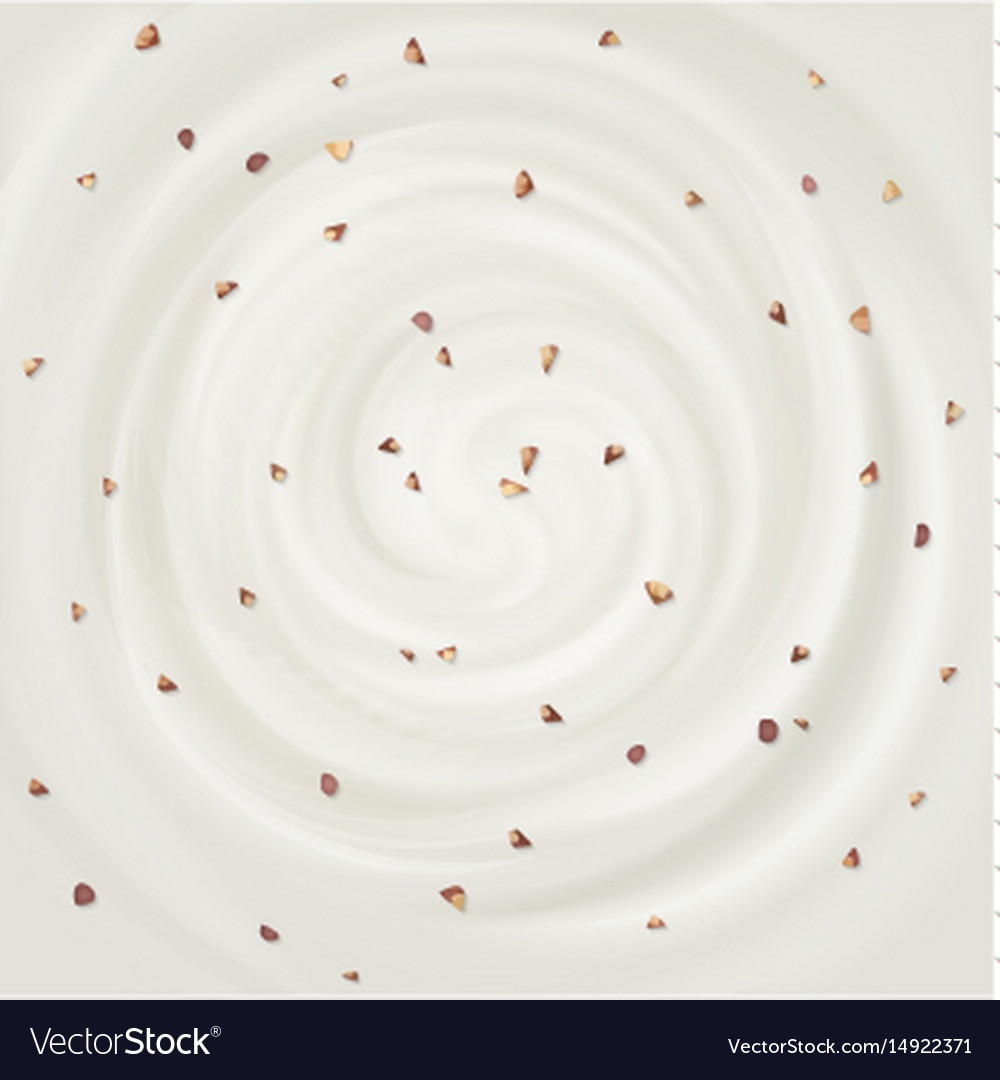 White swirl cream texture background vector image