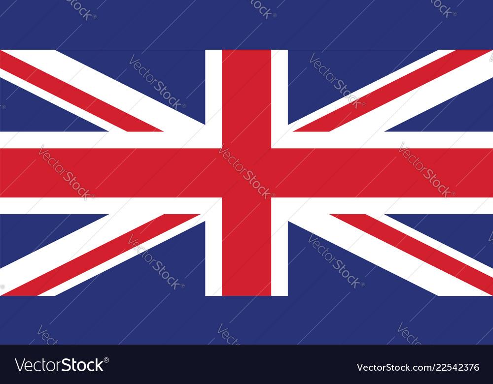 Accurate correct union jack united kingdom flag