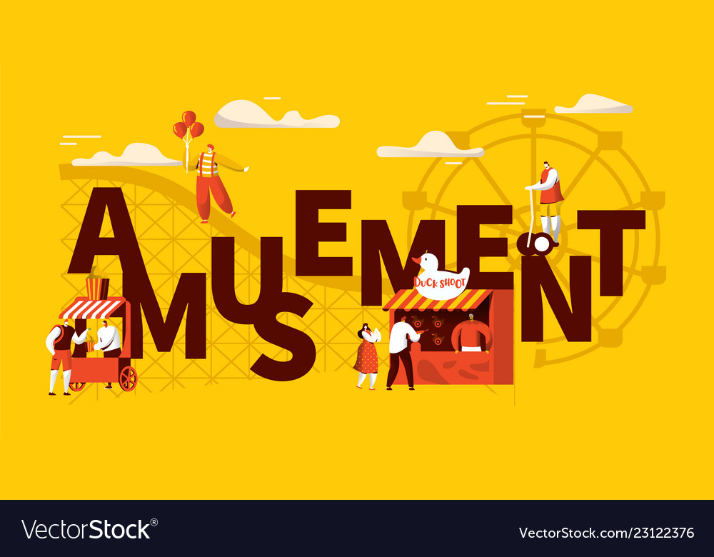 Amusement park banner template circus