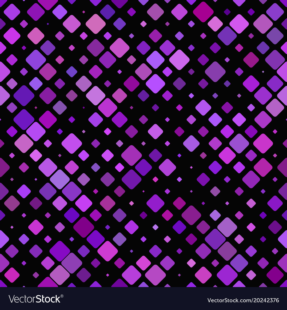 Geometric diagonal square pattern background vector image