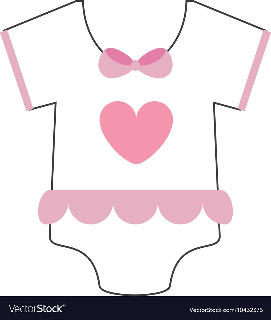 Girly Baby Onesie Icon Vector Image