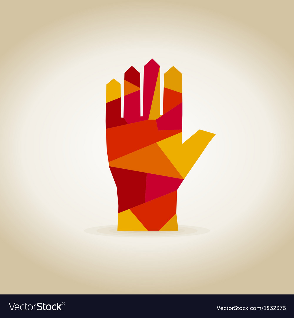hand abstraction royalty free vector image vectorstock