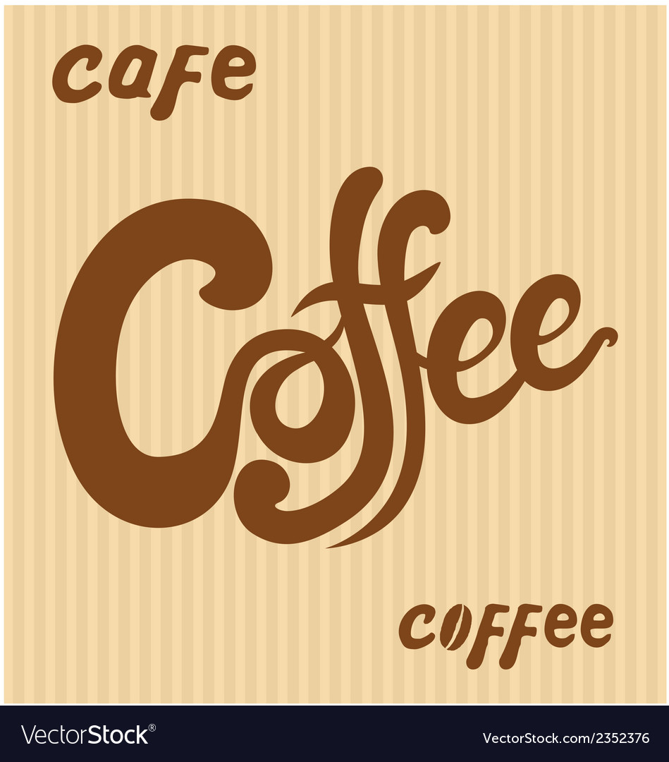 Hand Drawn Coffee Signs