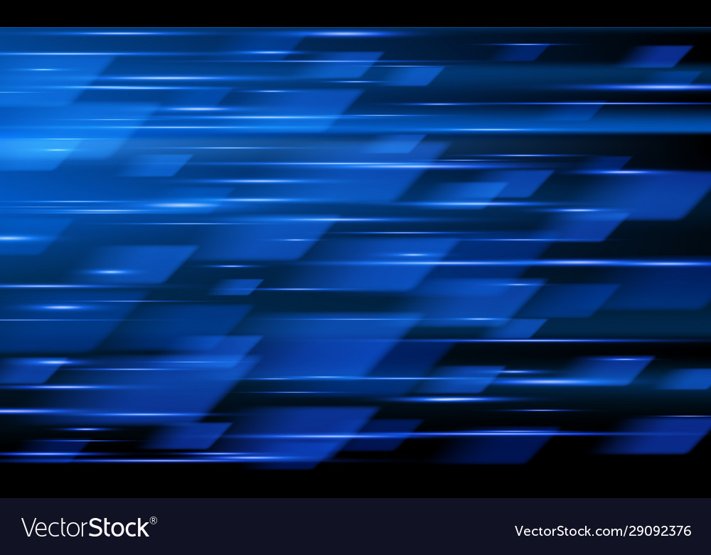 High speed blue abstract technology background