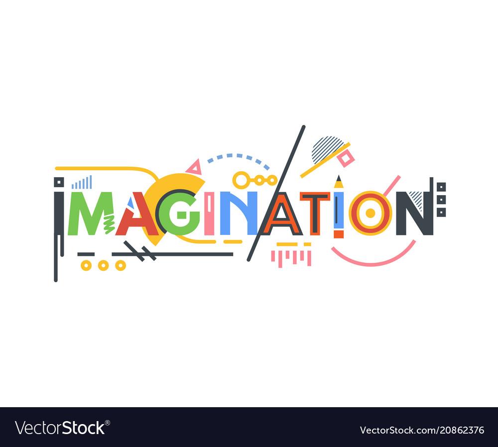 Imagination text banner