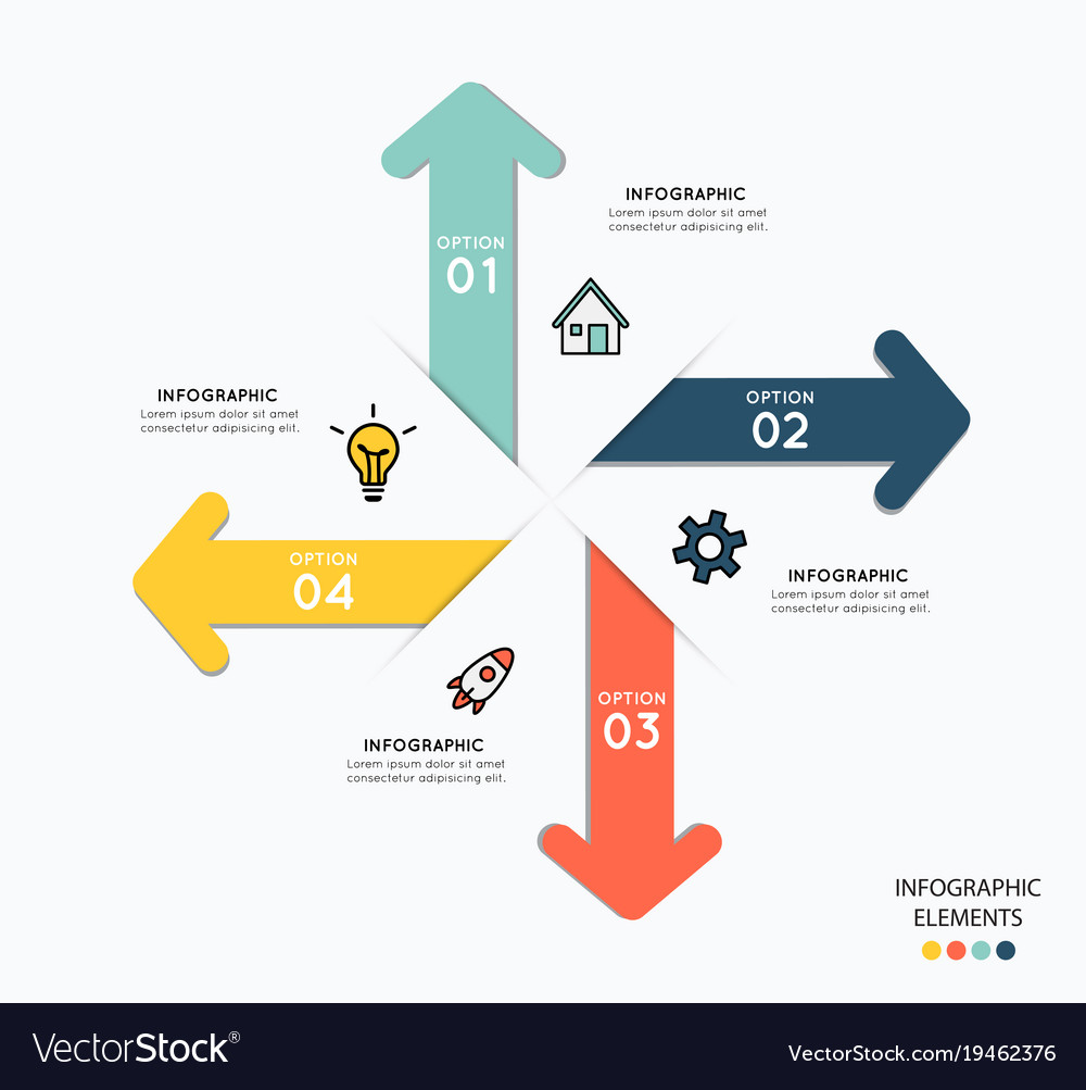 Infographic elements with icons for business