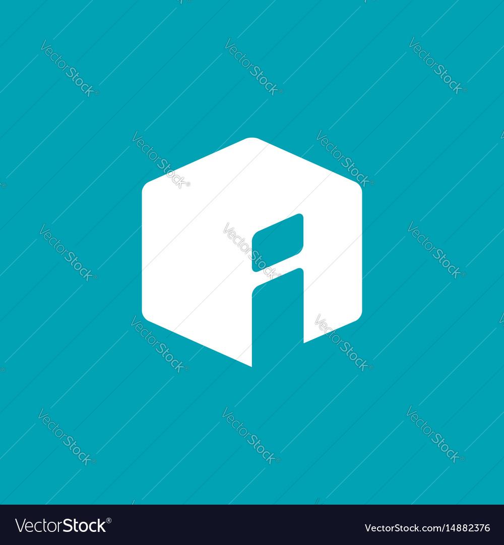 Letter i info logo icon design template elements