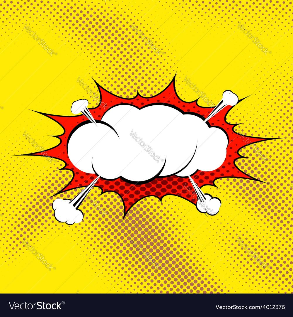 Retro comic book style pop art steam