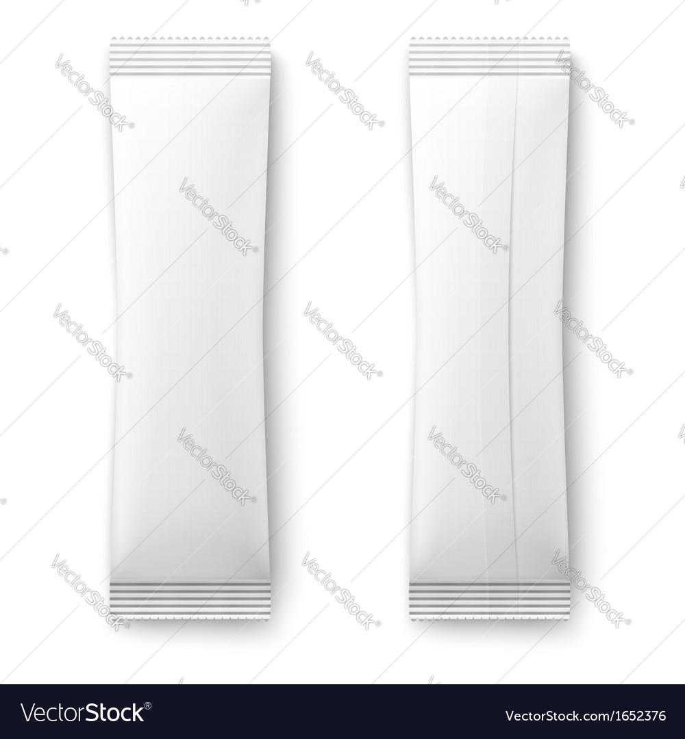 White paper sachet bag