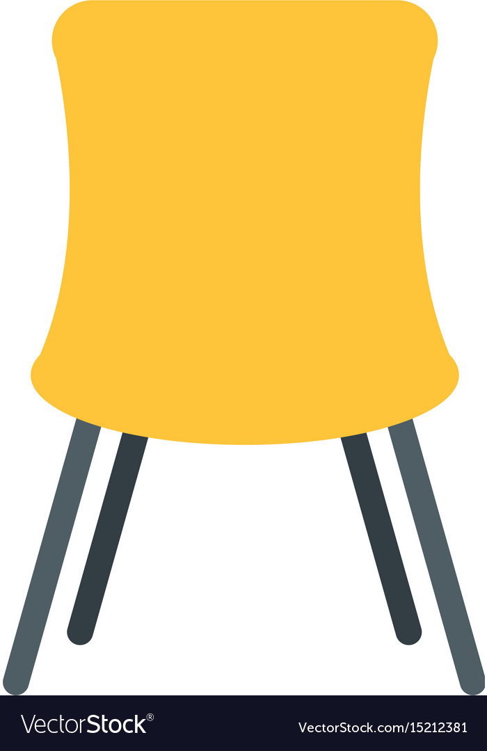 Chair desk isolated iicon