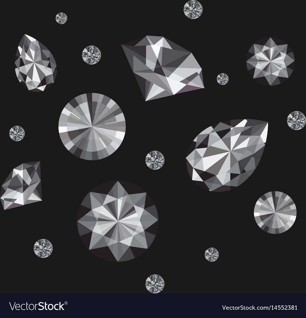 Diamonds set vector image