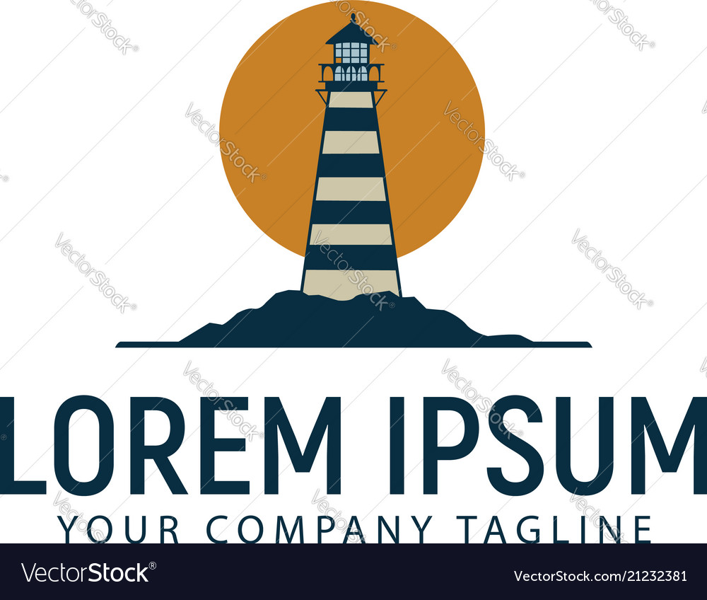 Lighthouse logo design concept template