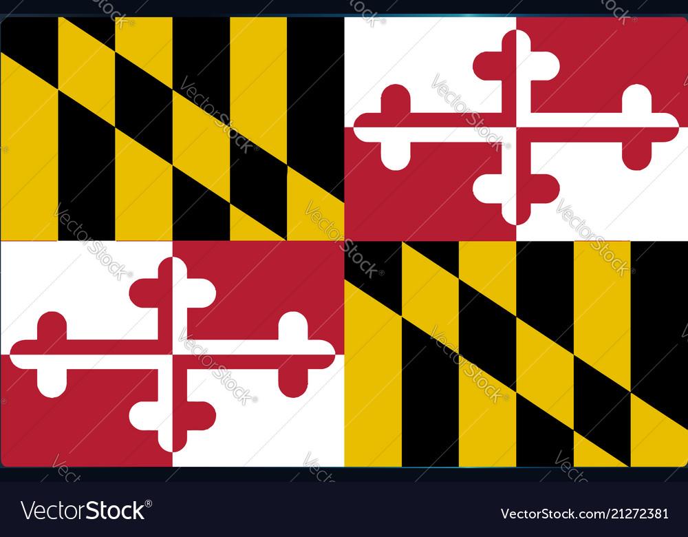 maryland flag tv royalty free vector image vectorstock rh vectorstock com waving maryland flag vector maryland flag crab vector