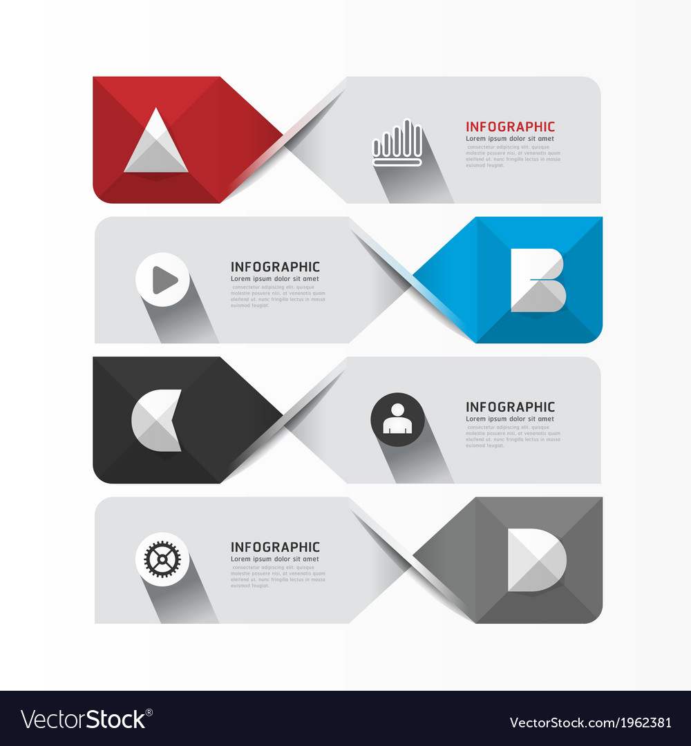 Modern Geometric Infographics Design template