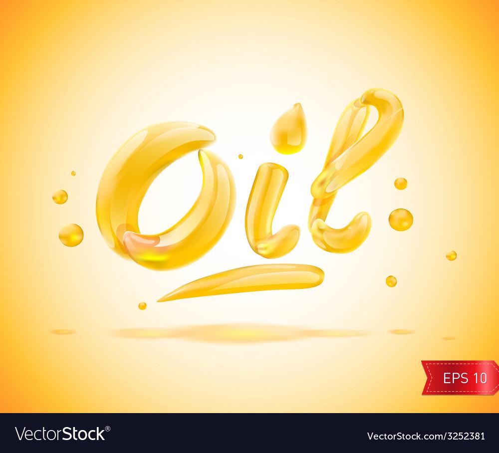Oil liquid text